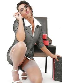 Busy secretary wants office fun