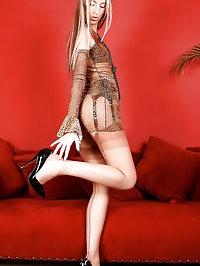 Leggy Angel CC has a fine ass and sexy nylon covered feet