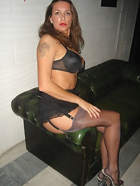 Long legs covered on cheeky grey stockings for this shoot