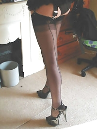 Nylon Jane shows off those gorgeous long legs of hers