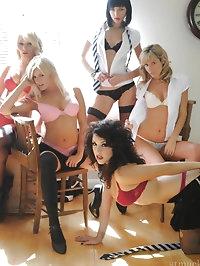 Lesbians Amy Green, Chloe Gray, Emma-Claire Jones, Holly..