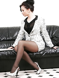 Pantyhose make her feel sexy