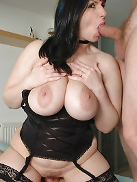 Josephine sucks on penis as shes pounded