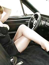Tyla Wynn Works the Pedals in Her Classic Fairlane