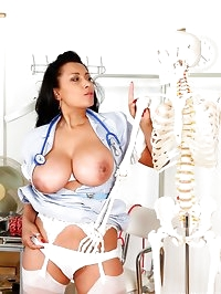 Naughty nurse Danica sets your pulse racing