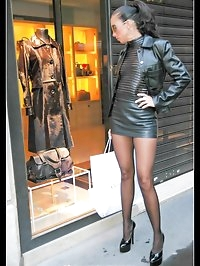 Shopping in leather