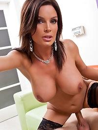 Sexy hot mom sucks dick and gets fucked hard.