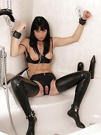 Hot Jessica Sanchez bound in latex